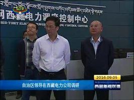 [西藏新闻联播]自治区领导在西藏电力公司调研