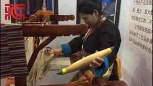 现场|藏族传统氆氇纺织的视觉享受