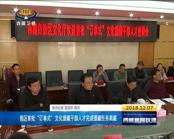 """西藏首批""""订单式""""文化援藏干部人才完成援藏任务离藏"""