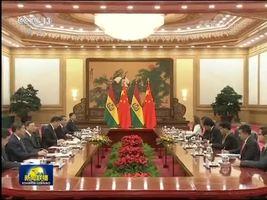 习近平同玻利维亚总统举行会谈
