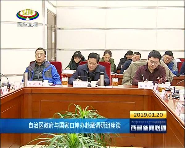 西藏自治区政府与国家口岸办赴藏调研组座谈