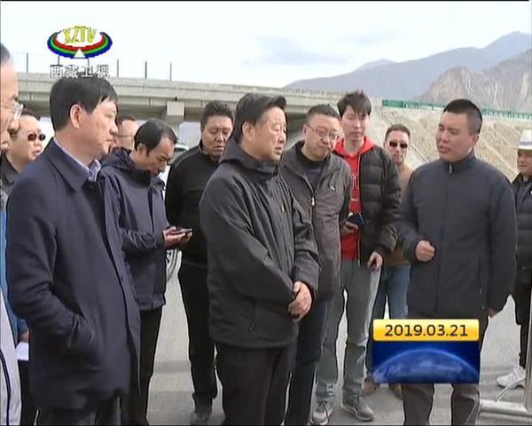 丁业现调研山南江北新区规划建设情况