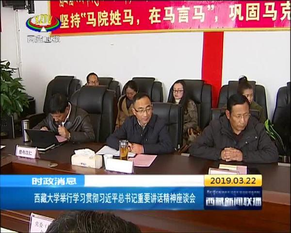 西藏大学举行学习贯彻习近平总书记重要讲话精神座谈会