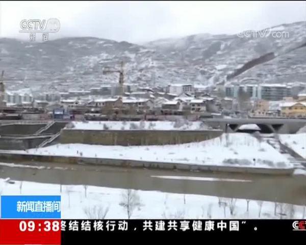 四川松潘:入春迎降雪 最大降雪量13毫米