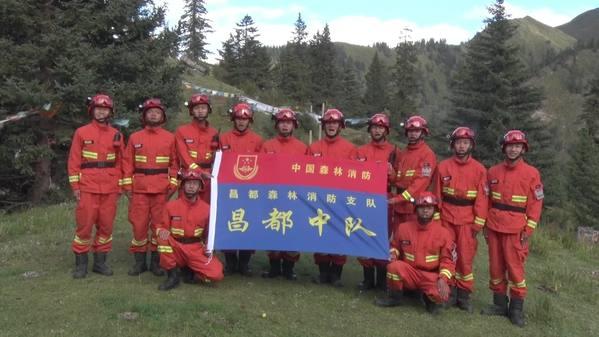 """唱响""""我和我的祖国"""",西藏昌都森林消防中队祝福伟大祖国繁荣昌盛!"""