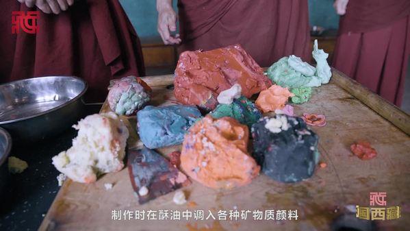 探寻强巴林寺的酥油花制作技艺