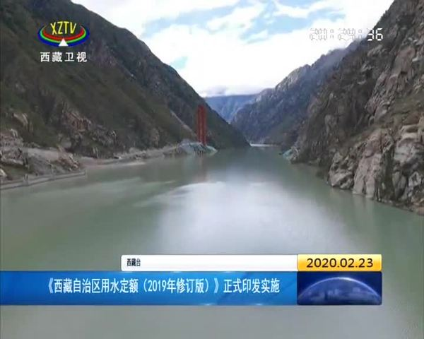 《西藏自治区用水定额(2019年修订版)》正式印发实施