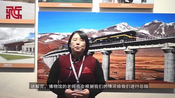 志愿者讲西藏文化