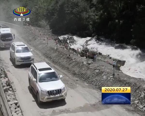 318国道路基垮塌路段抢通