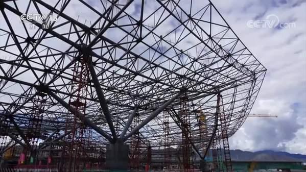 西藏拉萨贡嘎机场新建T3航站楼主体结构完工