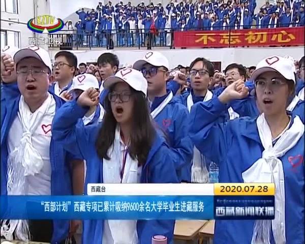 """""""西部计划""""西藏专项已累计吸纳9600余名大学毕业生进藏服务"""