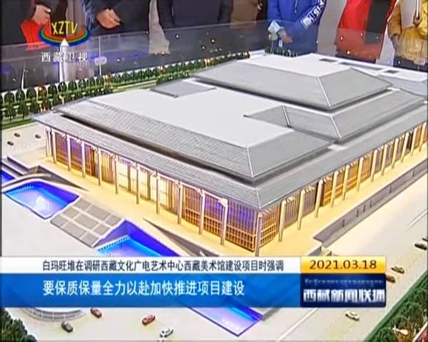 白玛旺堆调研西藏文化广电艺术中心西藏美术馆建设项目