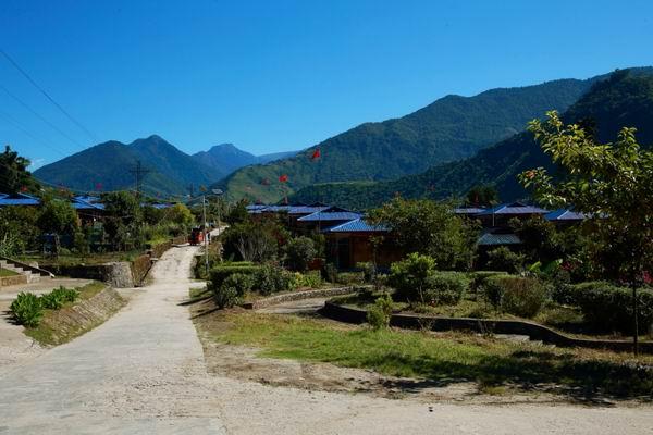 西藏也有低海拔的美丽村庄
