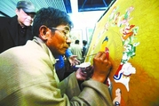 """精湛技艺把观众看哭了 西藏唐卡展迎来""""走心""""开场"""