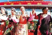 西藏林芝人民载歌载舞欢庆工布新年
