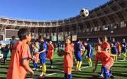 中国少年足球训练营拉萨开营