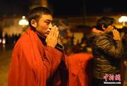 Believers celebrate the Glorious Goddess Festival in Jokhang Temple