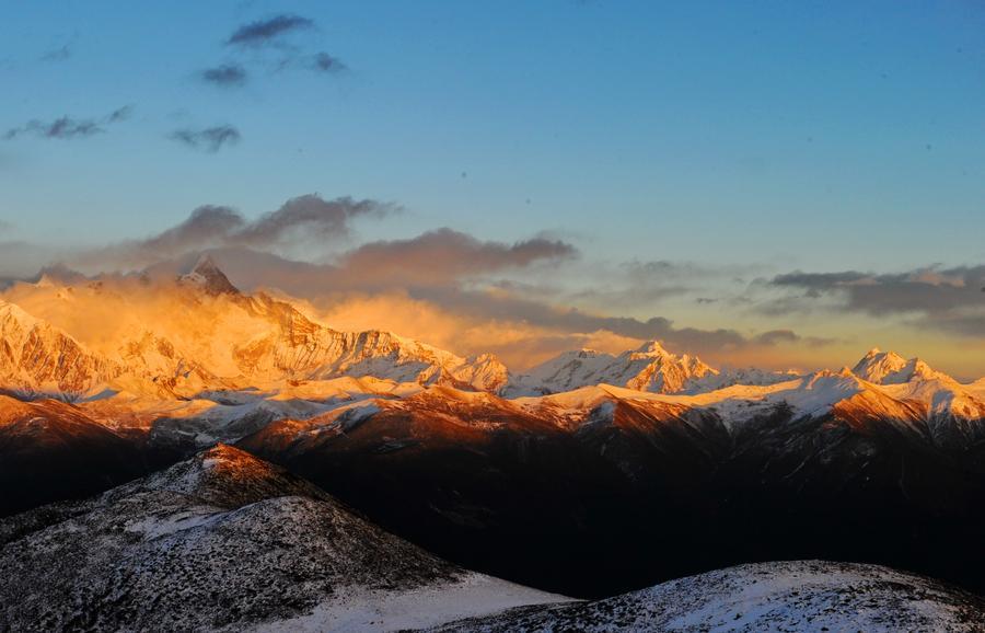 Majestic view of Namjagbarwa peak in Nyingchi, Tibet