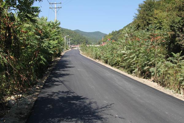 抚顺筐子沟风景区主要道路建设完工