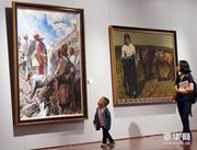 庆祝西藏成立50周年美术作品展开幕