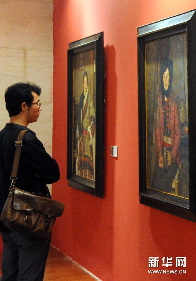 (文化)(5)庆祝西藏自治区成立50周年美术作品展在京开幕