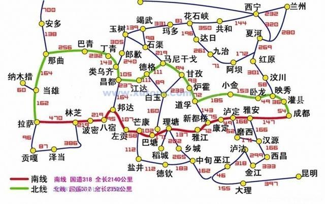 这些西藏路线图,很实用!