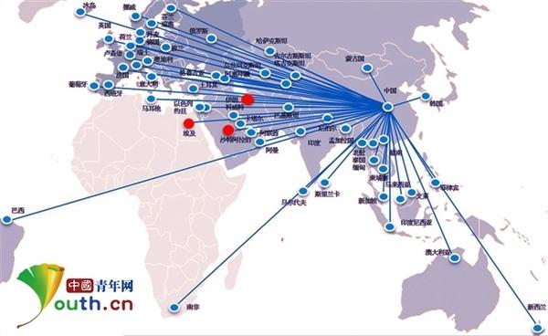北京至青岛高铁卫星图
