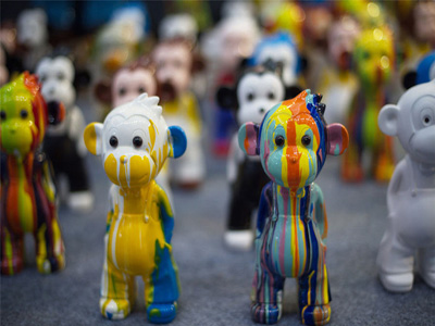 Artists use many techniques to create New Year monkeys