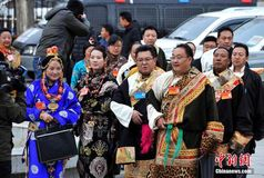 Ethnic members at the 4th Session of the 10th CPPCC Tibet Committee