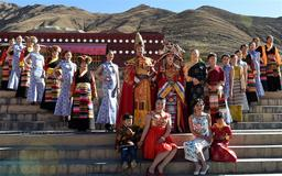 Tibetan costume fashion show on New Year's Day