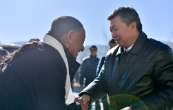 Tibet official visits Dingri and Gyirong counties