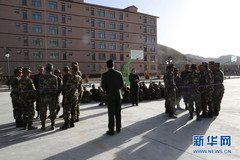 Tibet border defense troops organize psychological behavioral training