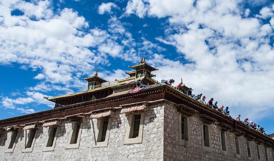 Samye Monastery in Zhanang county, China's Tibet