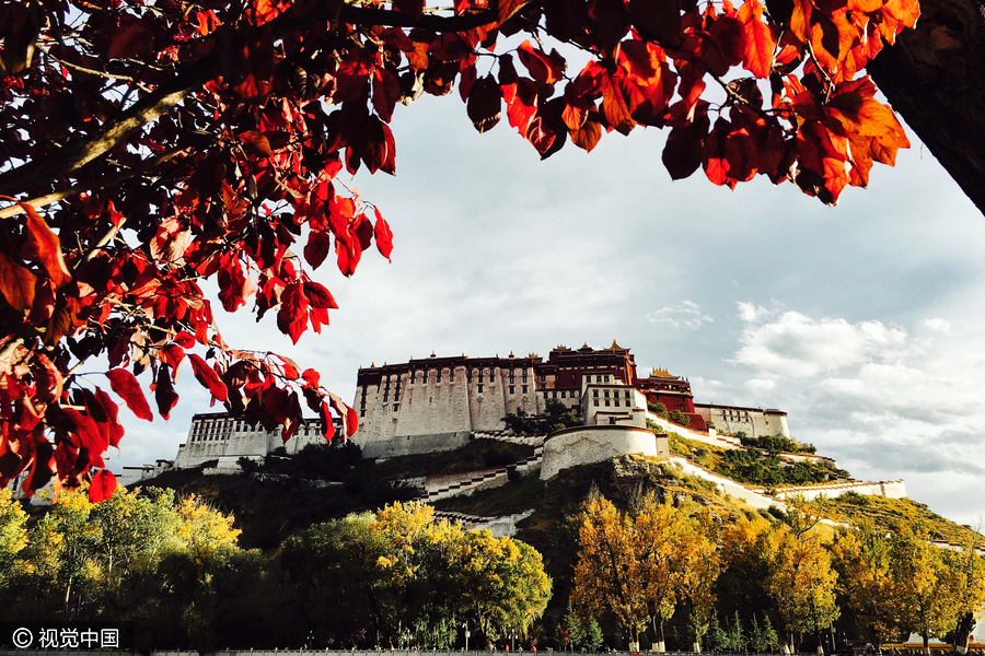 Autumn drapes Lhasa in beautiful colors