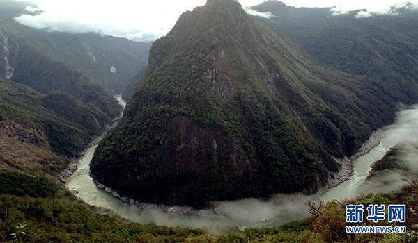 The famous river turns of China