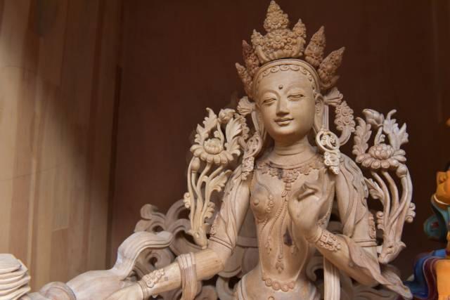 Tibetan wood carving: devotion art on wood