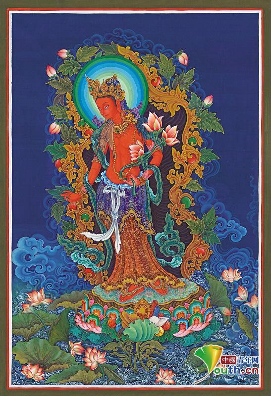 Nepalese Thangka art exhibition held in Beijing