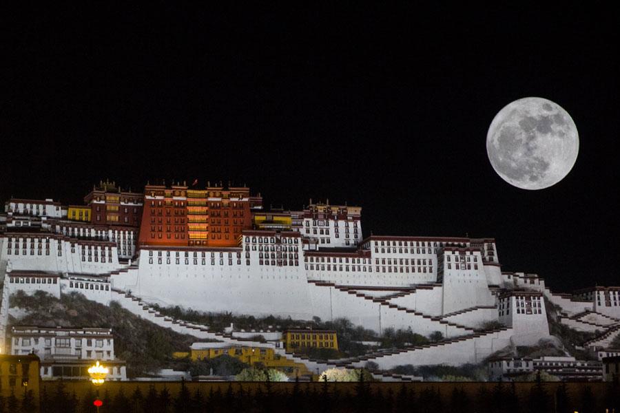 Super moon over Potala Palace