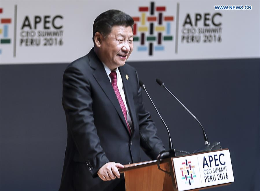 "Spotlight: Chinese President Xi's APEC speech puts China, Asia-Pacific in global ""vanguard"""