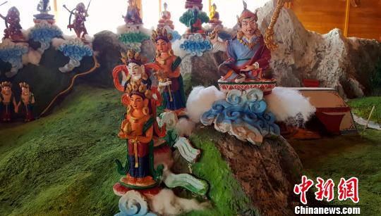 The clay sculptures complex of epic King Gesar show in Qinghai