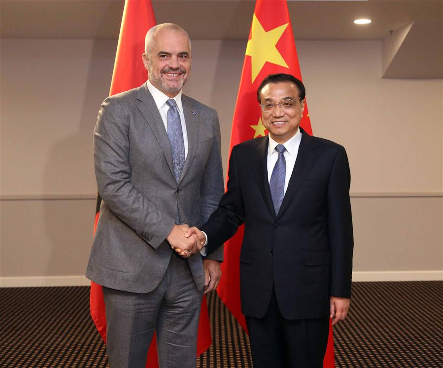 Chinese premier meets Albanian, Slovenian, Macedonian PMs to boost cooperation