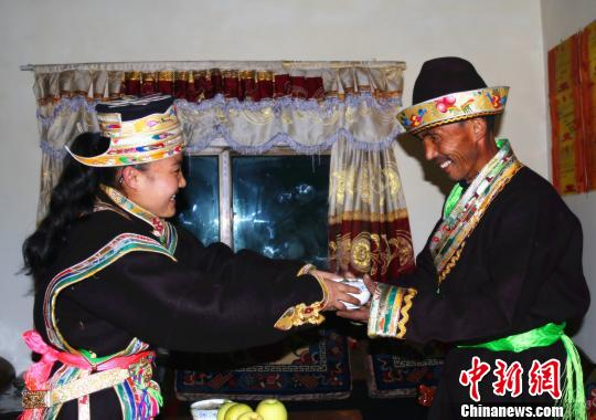 A family got rid of poverty celebrates Kongpo Losar
