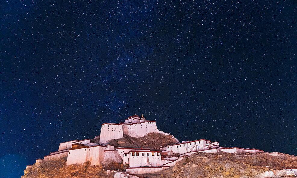 The sky of Gyantse glittered with a myriad of stars