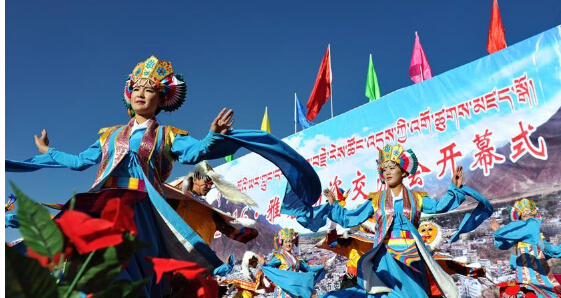 2016雅砻物交会在西藏山南举行
