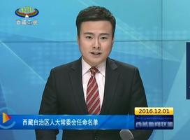西藏自治区人大常委会任命名单