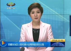西藏自治区人民代表大会常务委员会公告