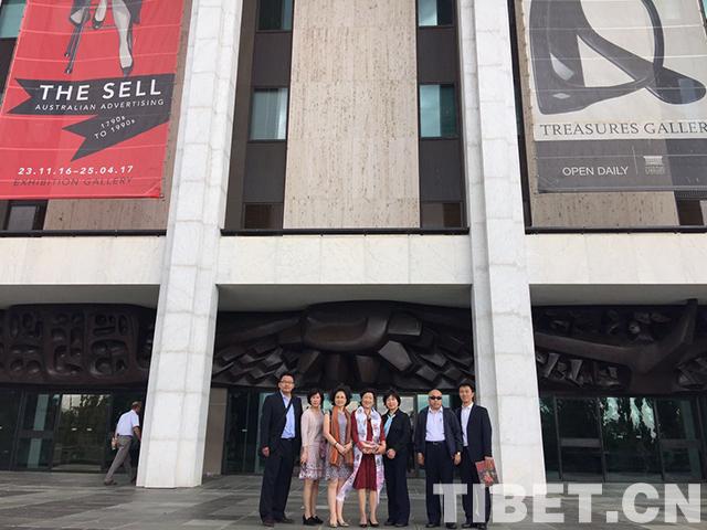 中国西藏杂志社团组到澳大利亚国家图书馆调研