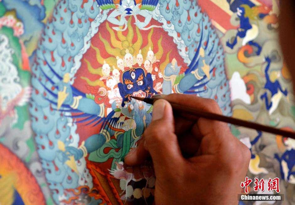 Post-95er Thangka-Maler: keine Eile
