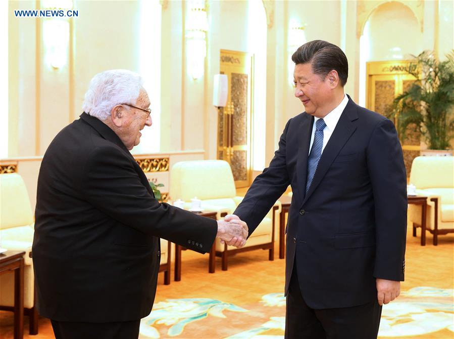 Xi meets Henry Kissinger, discusses China-U.S. ties
