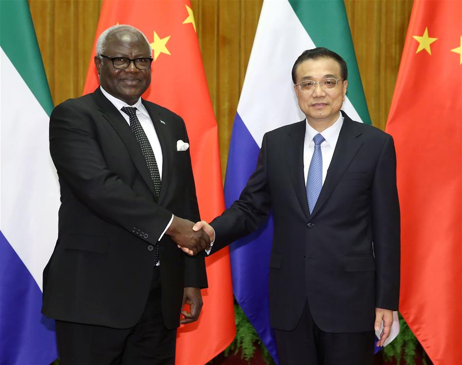 Chinese premier eyes more cooperation with Sierra Leone